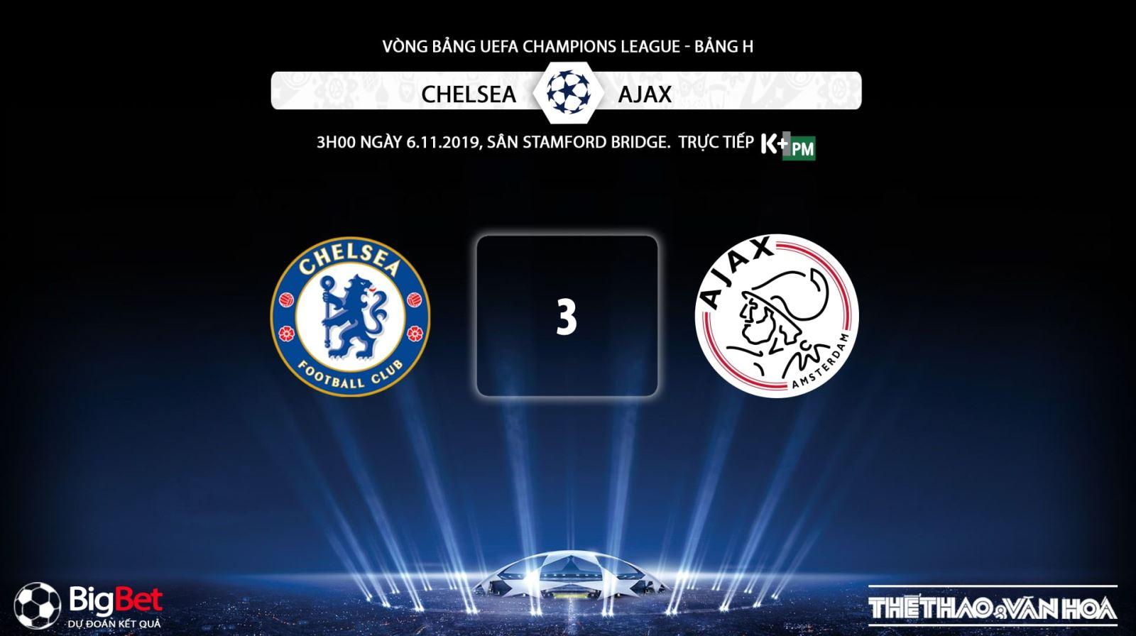 keo bong da, Chelsea đấu với Ajax , kèo Chelsea, truc tiep bong da hom nay, K+, K+PM, trực tiếp bóng đá, Chelsea vs Ajax, xem bong da truc tiep, xem bóng đá trực tuyến