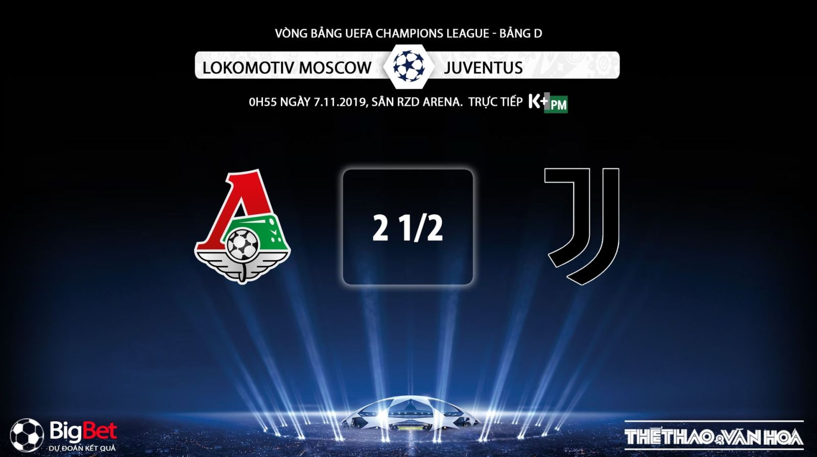 keo bong da, Lokomotiv Moscow vs Juventus, kèo Juventus, truc tiep bong da hom nay, K+, K+PM, trực tiếp bóng đá, Lokomotiv Moscow vs Juventus, xem bong da truc tiep, xem bóng đá trực tuyến