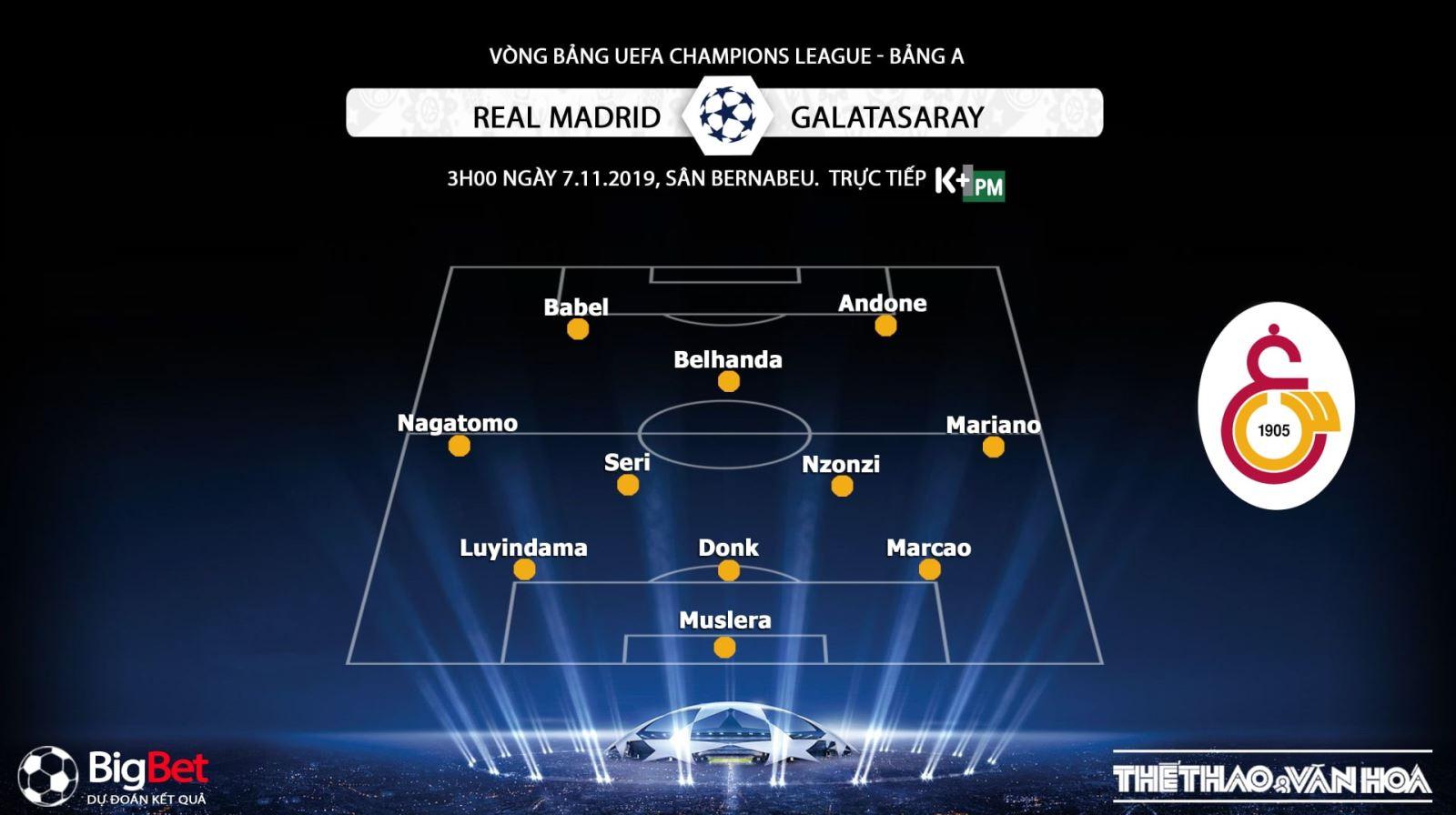 Chú thích ảnhkeo bong da, Real Madrid đấu với Galatasaray, kèo Real Madrid, truc tiep bong da hom nay, K+, K+PM, trực tiếp bóng đá, Real Madrid vs Galatasaray, xem bong da truc tiep, xem bóng đá trực tuyến