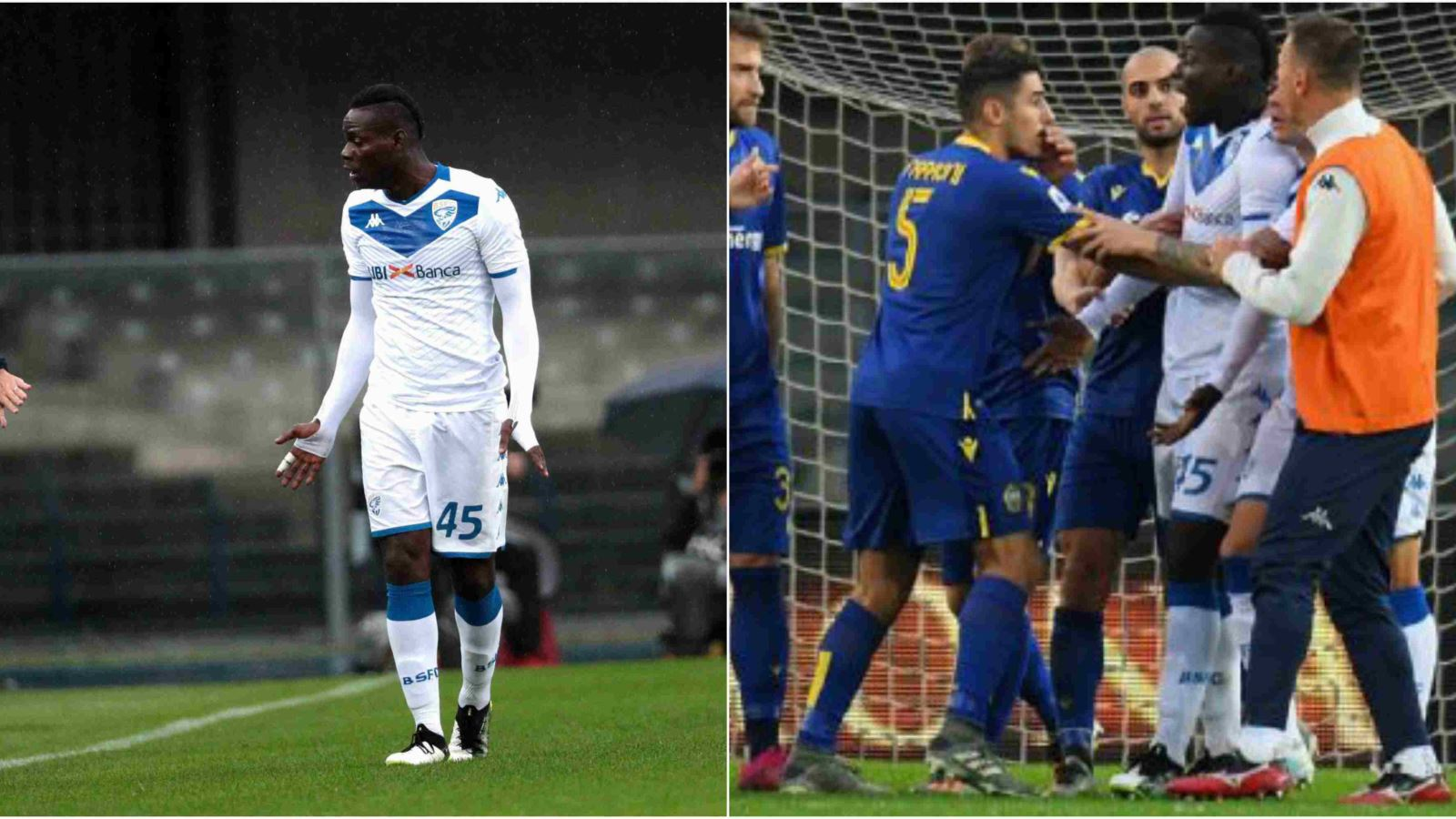 Balotelli lập 'siêu phẩm', sút bóng lên khán đài, đòi bỏ trận đấu vì bị phân biệt chủng tộc