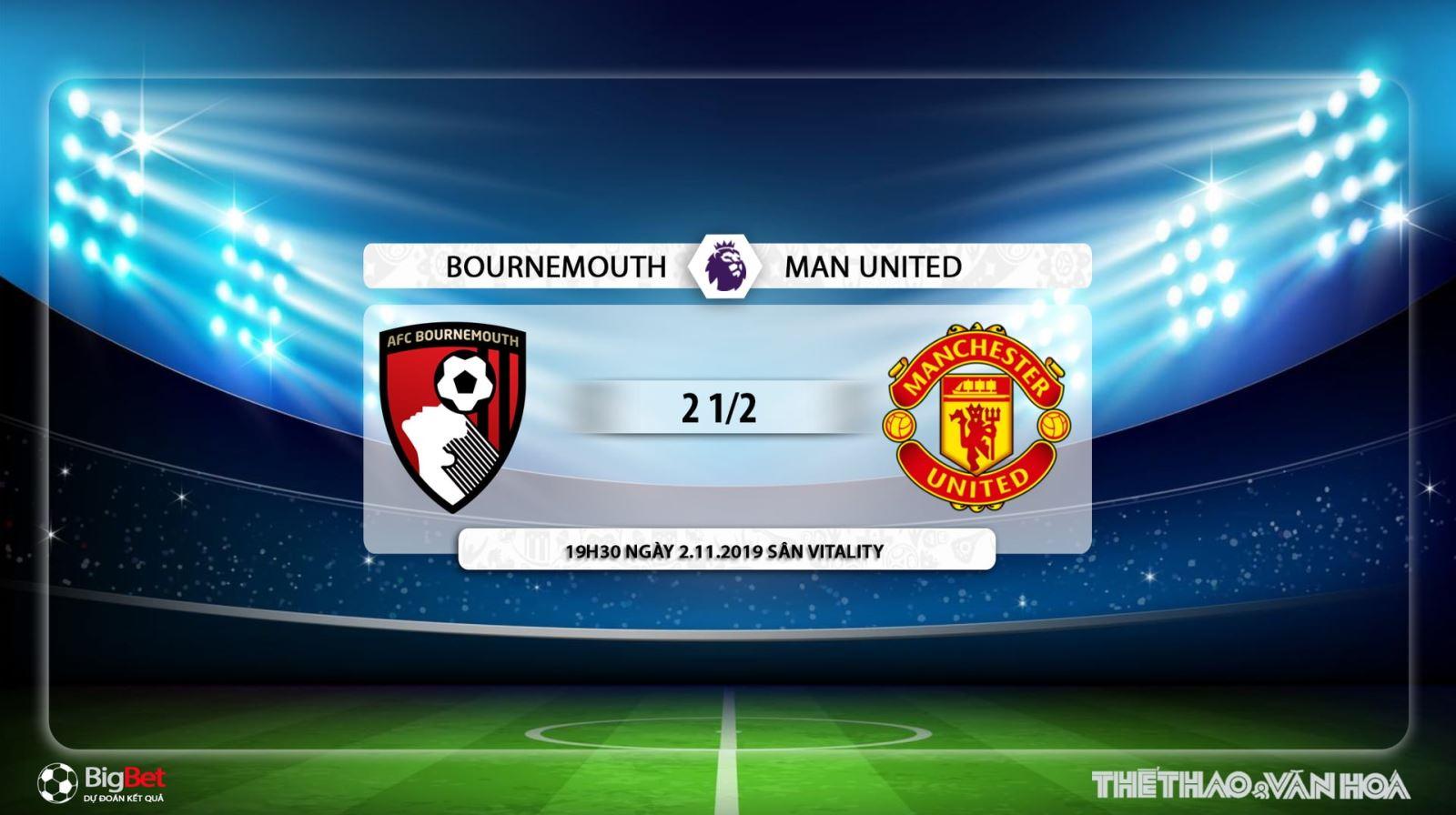 soi kèo Bournemouth vs MU, trực tiếp bóng đá Bournemouth vs MU, MU, Bournemouth, xem trực tiếp MU vs Bournemouth, soi kèo bóng đá
