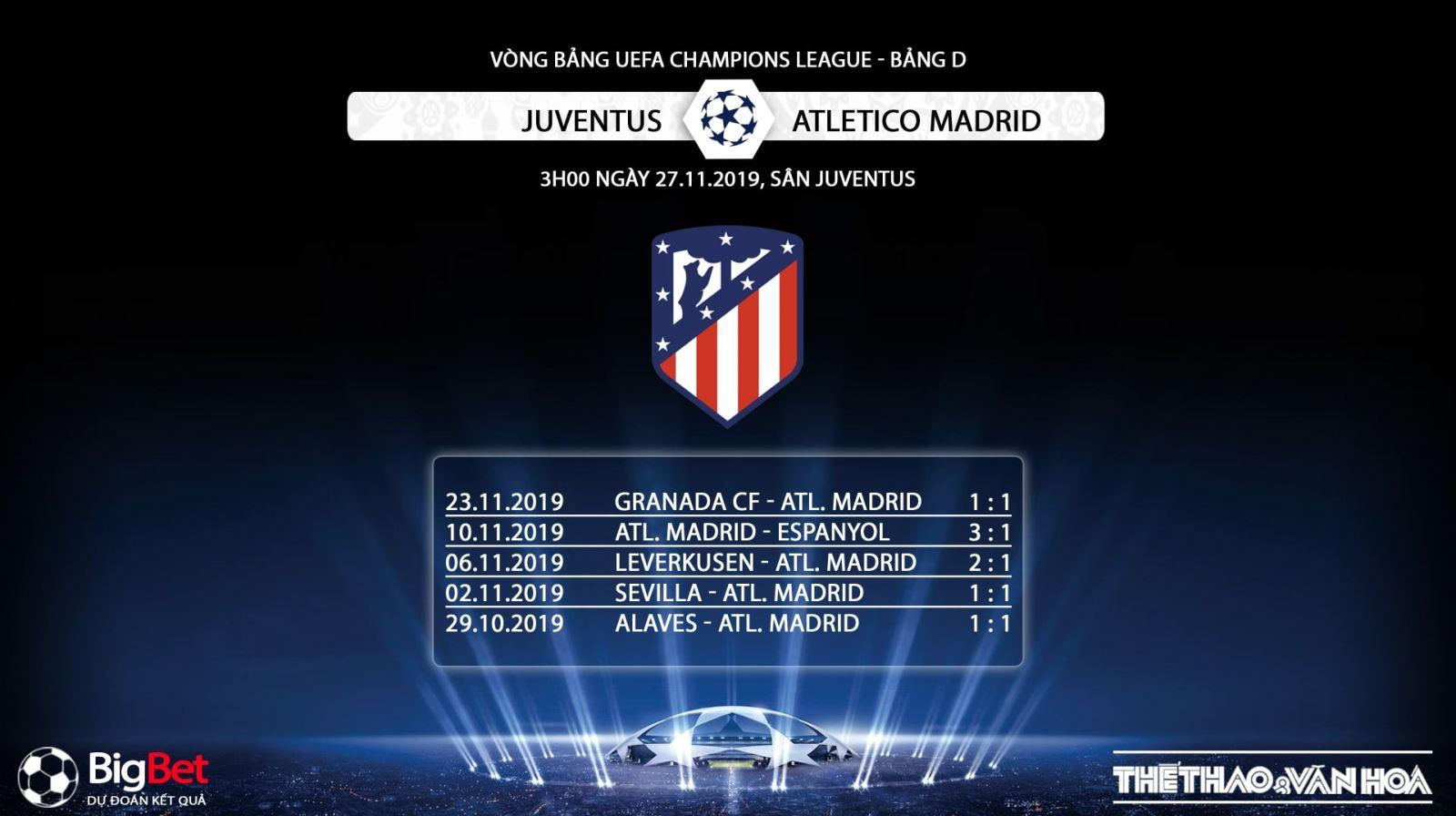 Soi kèo Juventus vs Atletico Madrid, Juventus, Atletico Madrid, soi kèo bóng đá, trực tiếp Juventus vs Atletico Madrid, K+, K+PM, K+PC