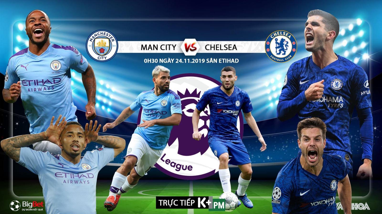 Soi kèo Chelsea đấu với Man City. Trực tiếp bóng đá. K+, K+PM trực tiếp Chelsea vs Man City