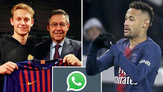 Barca dùng tin nhắn của Neymar để 'cuỗm' Frenkie De Jong ngay trước mũi PSG