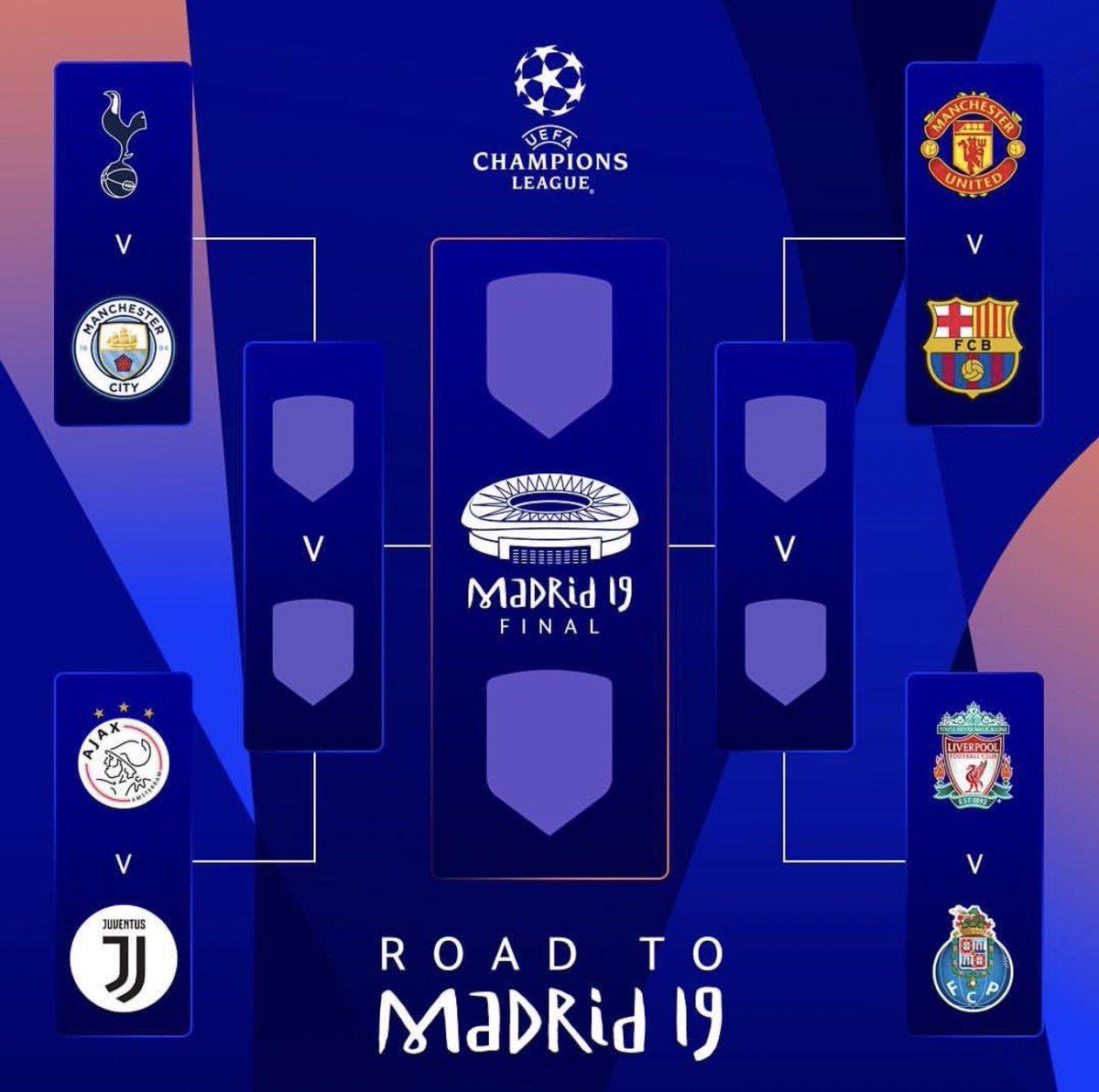 Kết quả bốc thăm c1, c1, cúp c1, tứ kết cúp C1, MU vs Barca, Juventus vs Ajax, Man City vs Tottenham, kết quả bốc thăm c1, champions league, bốc thăm bán kết c1, bóng đá