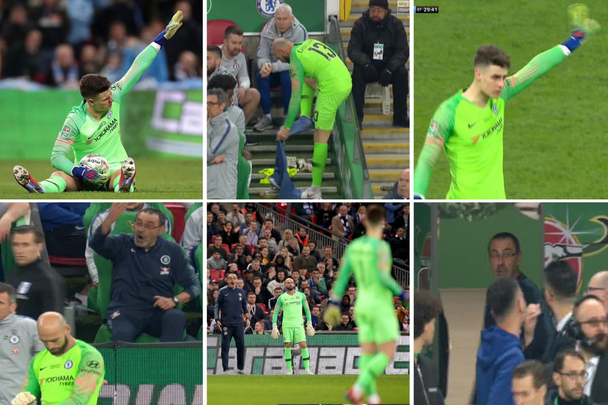 Chelsea, Man City, ket qua Chelsea vs Man City, Video clip Chelsea Man City, ket qua chung ket cup Lien doan, ket qua bong da, Kepa phản Sarri, Man City vô địch