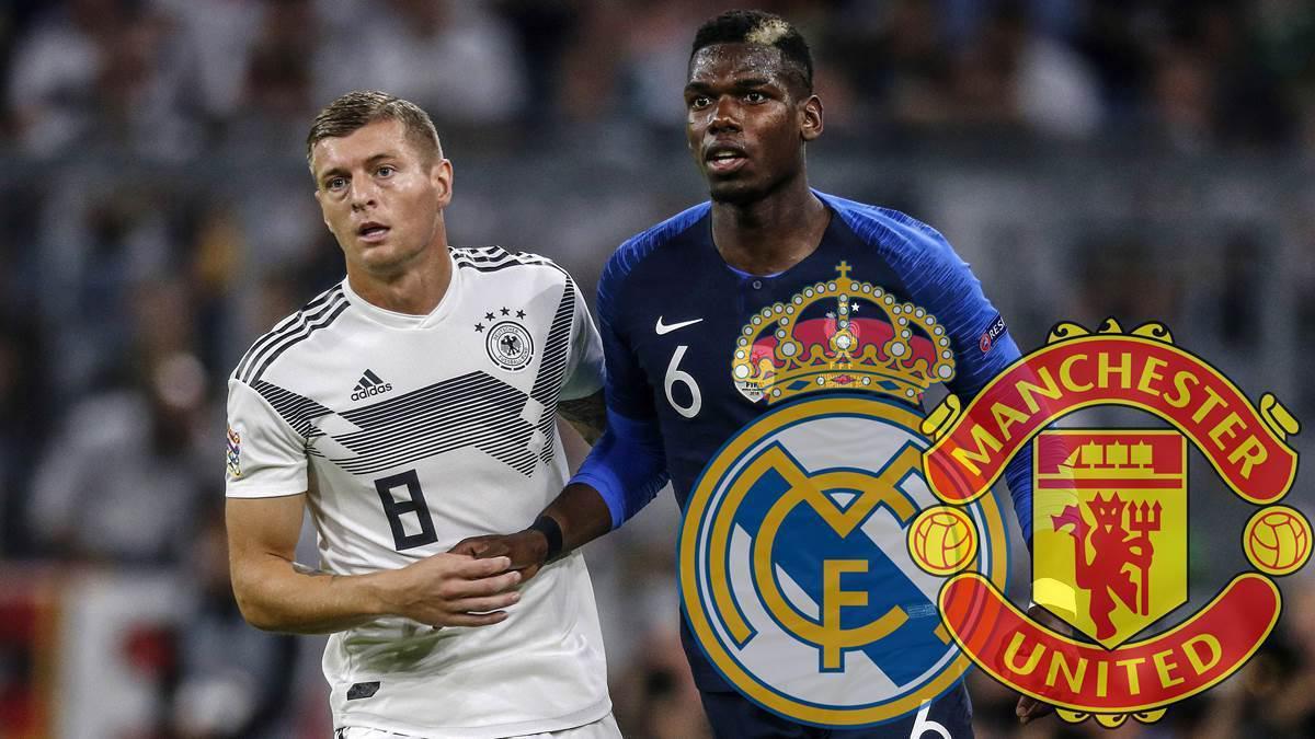 MU tính dùng Paul Pogba để đổi lấy Toni Kroos của Real Madrid