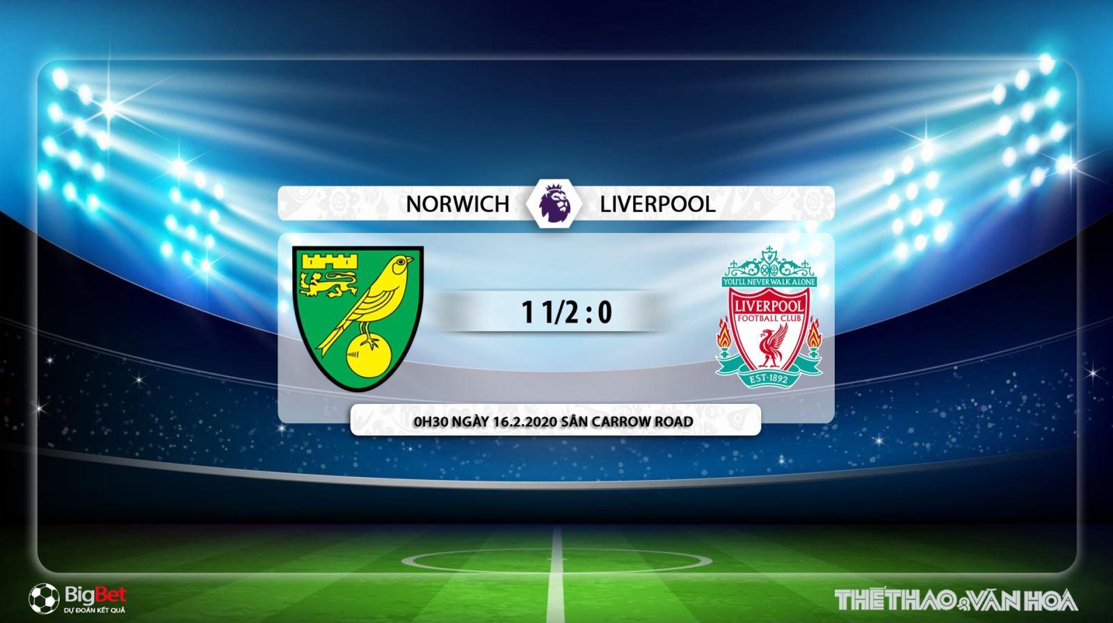 Norwich vs Liverpool, norwich, liverpool, trực tiếp Norwich vs Liverpool, bóng đá, bong da, K+, K+PM, lịch thi đấu
