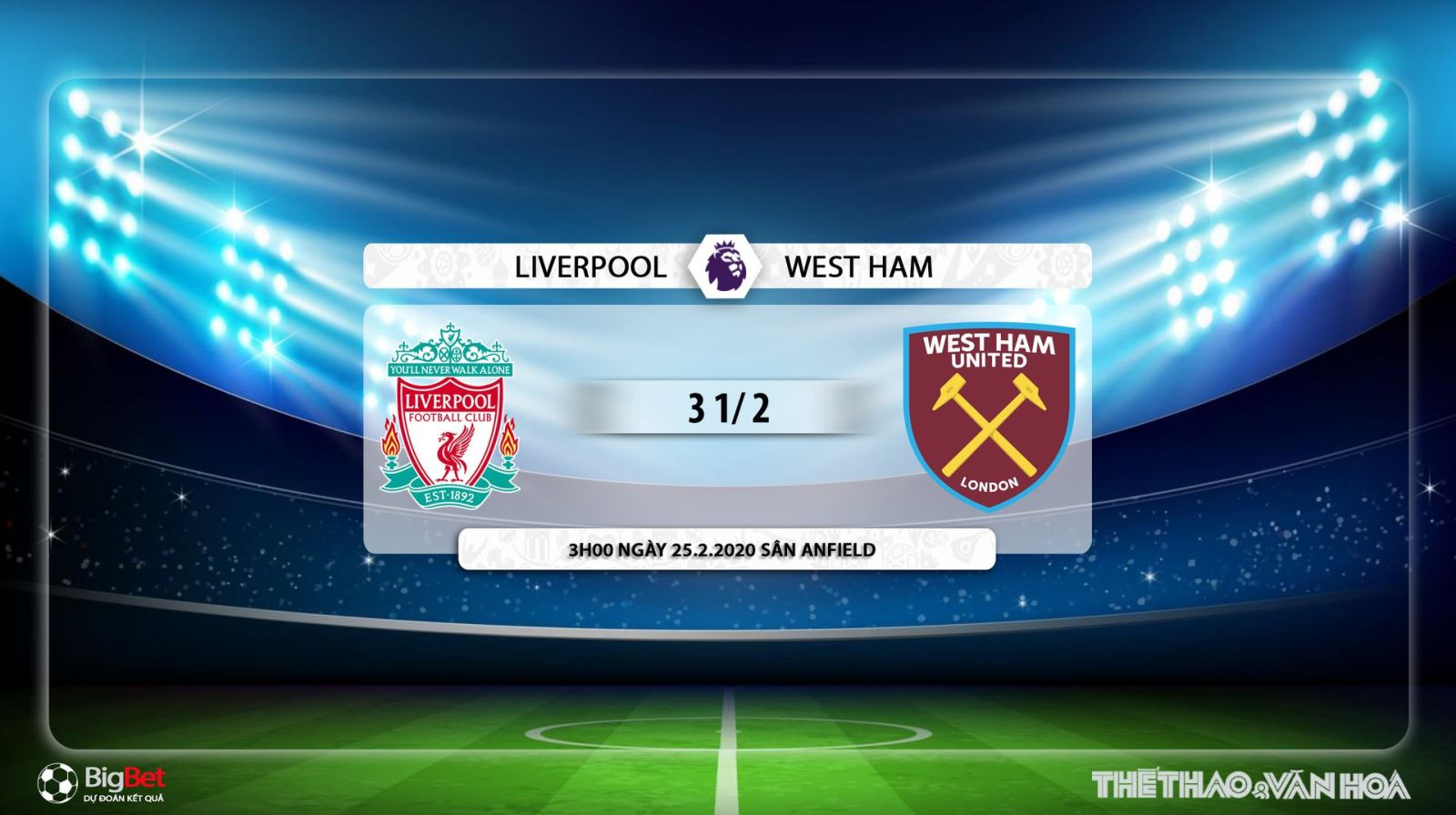 Liverpool vs West Ham, nhận định Liverpool vs West Ham, liverpool, west ham, trực tiếp Liverpool vs West Ham, soi kèo Liverpool vs West Ham, K+PC, K+PM, bóng đá