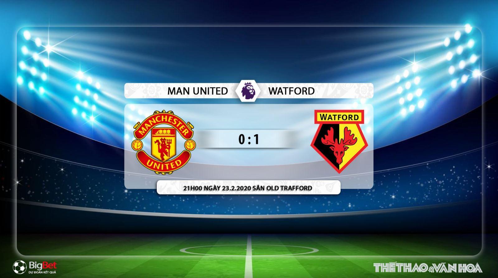 MU vs Watford, manchester united, watford, trực tiếp bóng đá, trực tiếp MU vs Watford, lịch thi đấu bóng đá, bóng đá, K+, K+PM