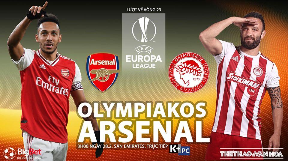 Soi kèo Arsenal vs Olympiacos, Europa League – 28/02/2020