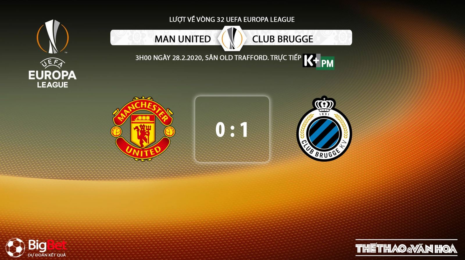 MU vs Club Brugge, manchester united, club brugge, lịch thi đấu bóng đá hôm nay, soi kèo, Cúp C2, bóng đá, bong da, K+, K+PM