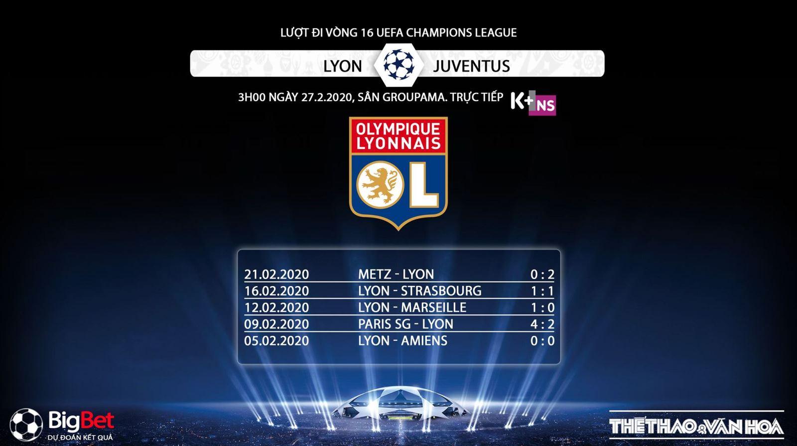 Lyon vs Juventus, Cúp C1, Champions League, trực tiếp Lyon vs Juventus, nhaja, Juve, K+PC, K+PM, lịch thi đấu, trực tiếp bóng đá