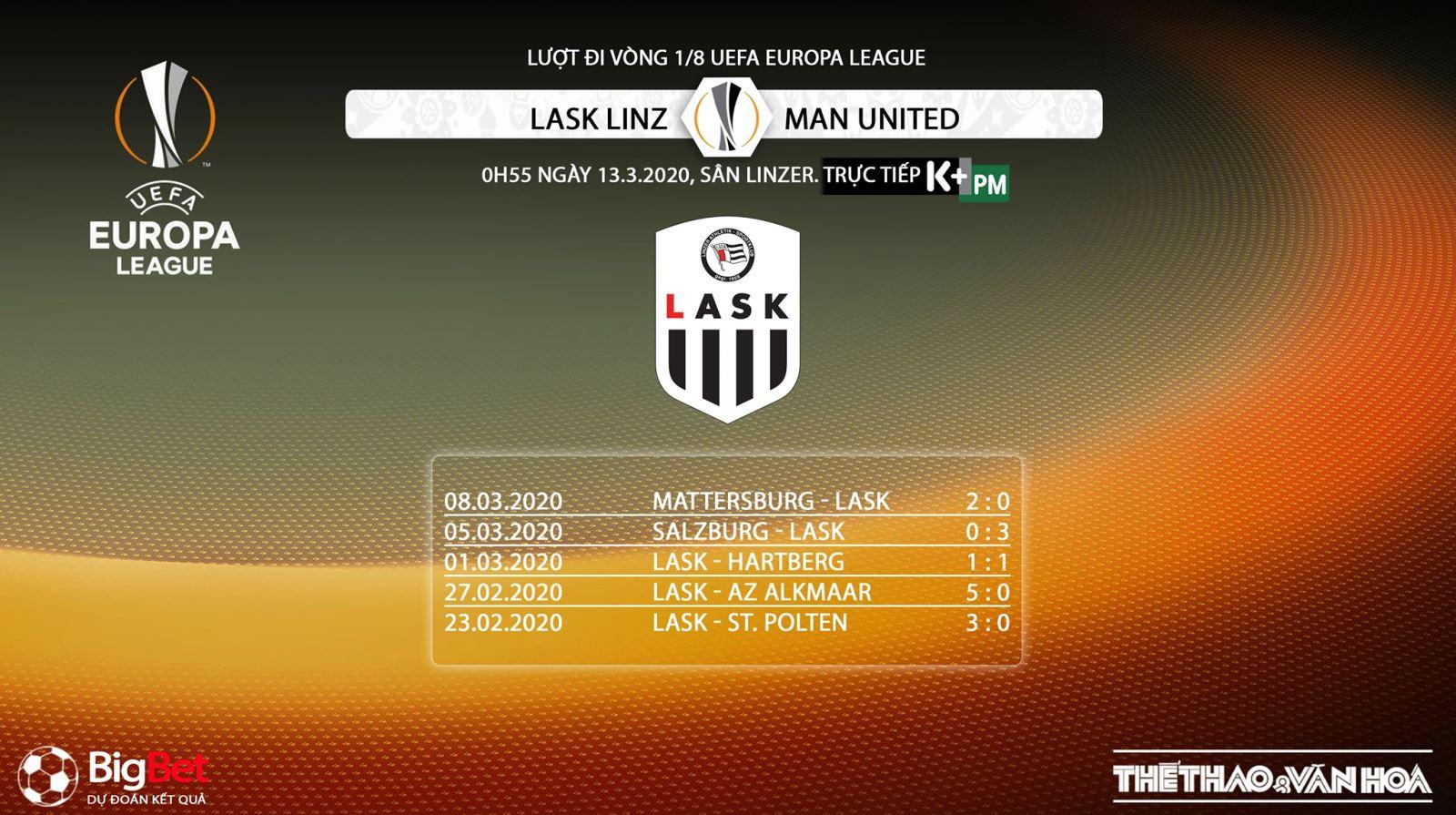 LASK Linz vs MU, LASK, MU, trực tiếp LASK Linz vs MU, bóng đá, bong da, lịch thi đấu bóng đá, trực tiếp bóng đá, K+PM, K+PC