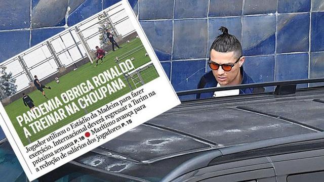 Ronaldo bị chỉ trích vì tập luyện ở sân vận động trong dịch COVID-19