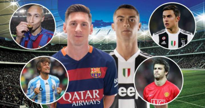 Ronaldo, Messi, Deco, Pique, Di Maria, Dybala, Cristiano Ronaldo, Lionel Messi, Real Madrid, Barcelona, Argentina, Bồ Đào Nha