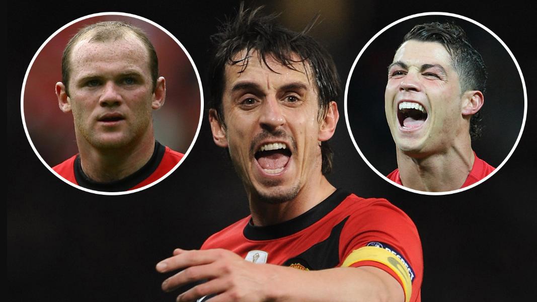 MU: Sợ Ronaldo và Rooney gây loạn, Sir Alex 'bắt' Gary Neville làm thủ quân
