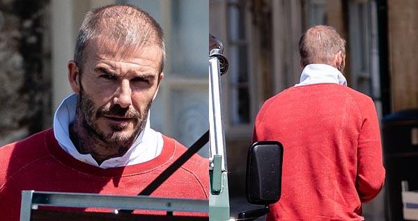David Beckham, Beckham, beckham bị hói, MU, bóng đá, bong da, bong da hom nay, hói