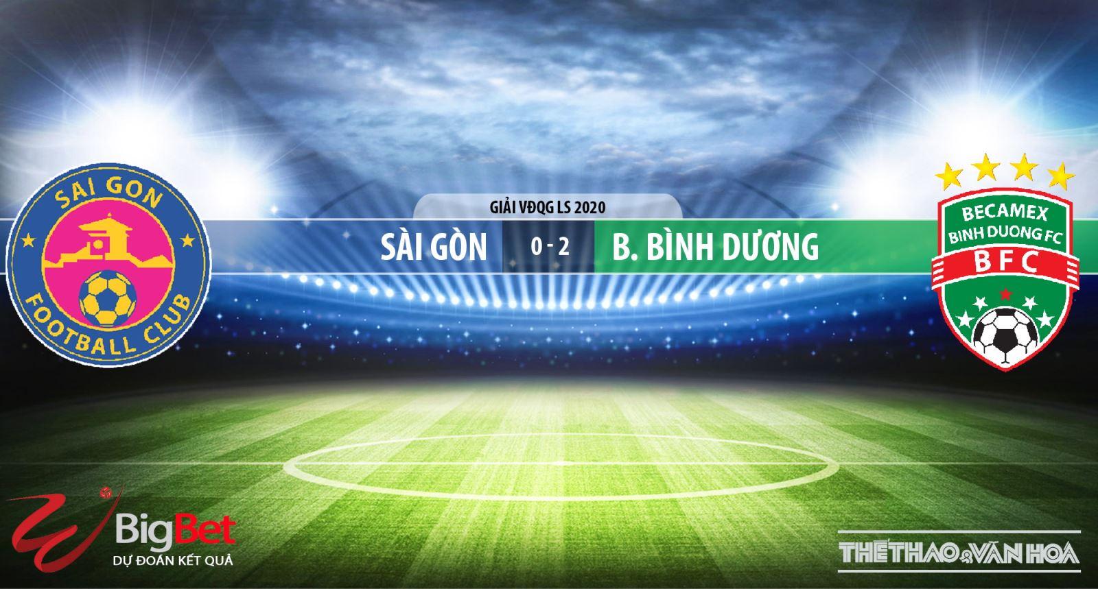 Sài Gòn vsBecamex Bình Dương, Sài Gòn, Bình Dương, trực tiếp bóng đá, soi kèo bóng đá, kèo bóng đá, BĐTV
