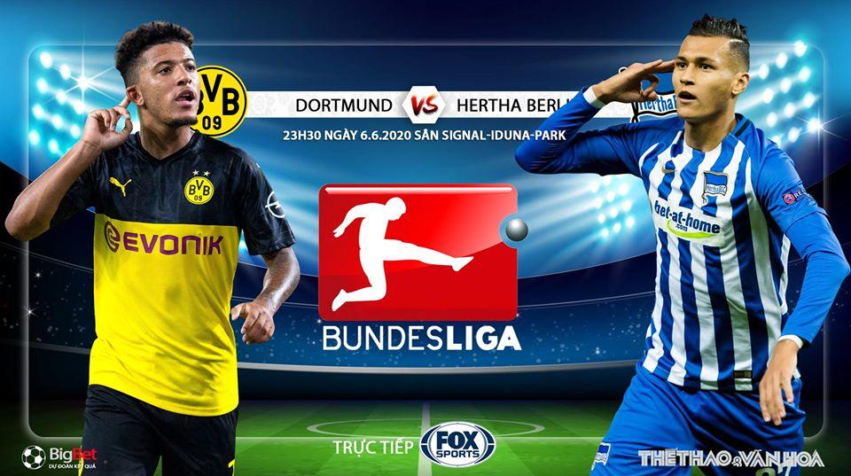 Soi kèo bóng đá Dortmund vs Hertha Berlin. Vòng 30 Bundesliga. Trực tiếp FOX Sports