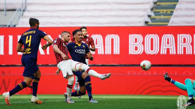 VIDEO bàn thắng AC Milan 2-0 AS Roma: Milan thấy lại cơ hội vào... Top 6