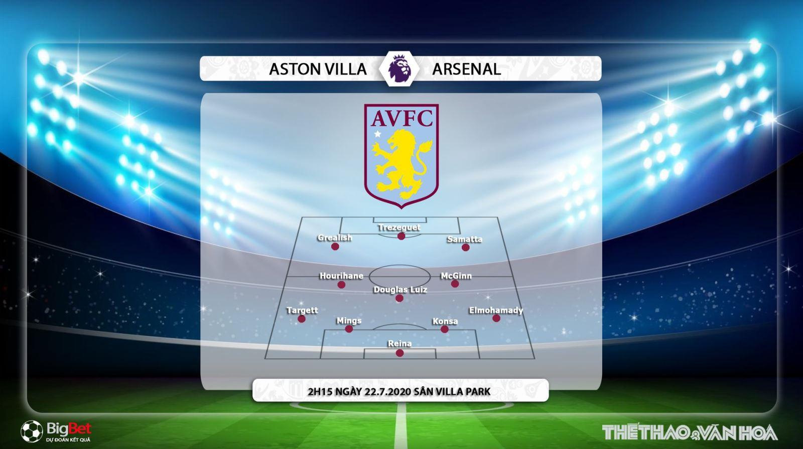Keo nha cai, kèo nhà cái, Aston Villa vs Arsenal, Vòng 37 Ngoại hạng Anh, Trực tiếp K+PM, K+, trực tiếp bóng đá Anh, trực tiếp Arsenal đấu với Aston Villa, kèo Arsenal