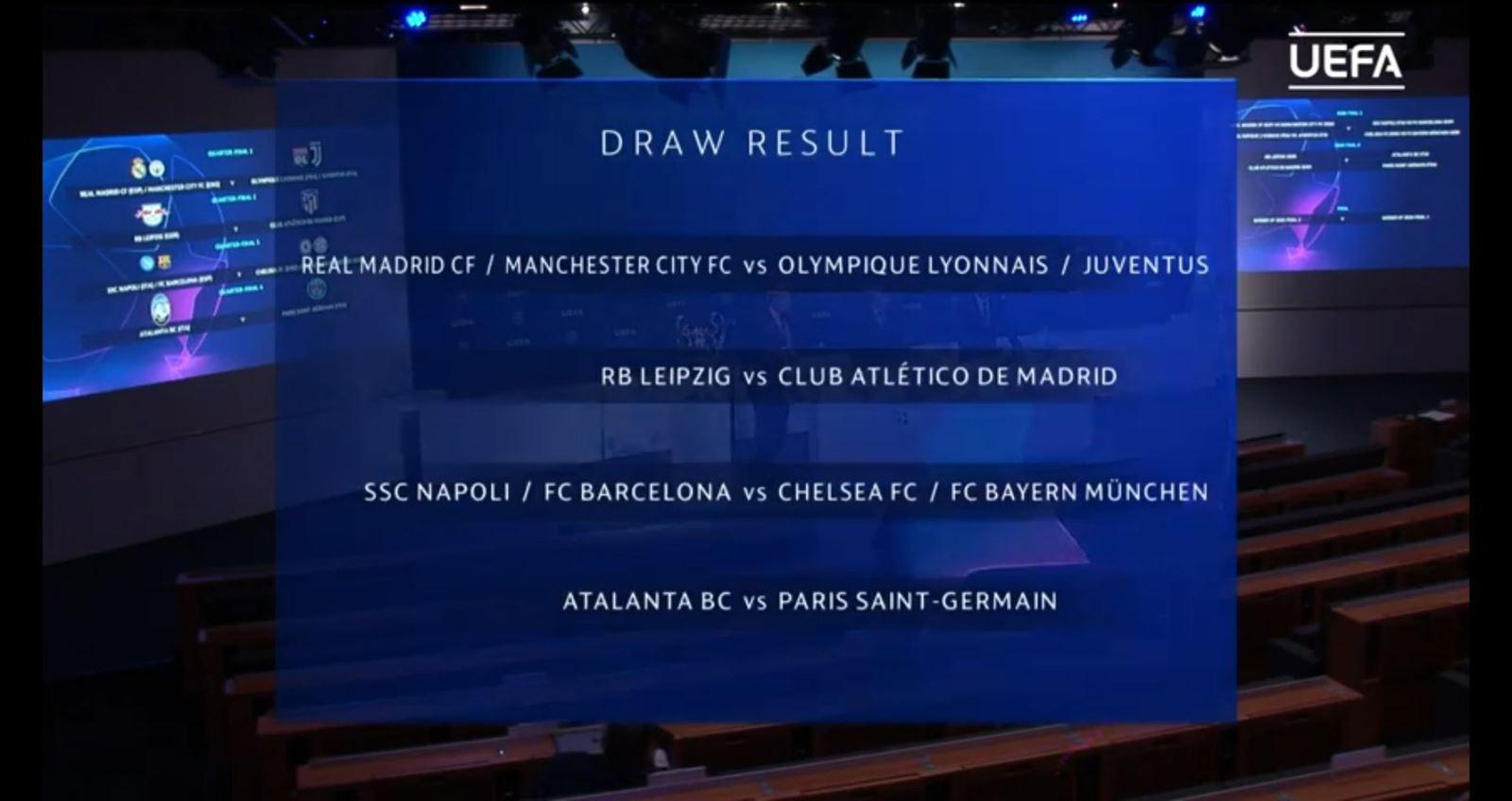 Ket qua boc tham C1, tứ kết cúp C1, Man City có thể gặp Juventus, Barca đối mặt Bayern, cúp C1 châu Âu, vòng tứ kết cúp C1, Champions League, Man City, Barcelona, Juve