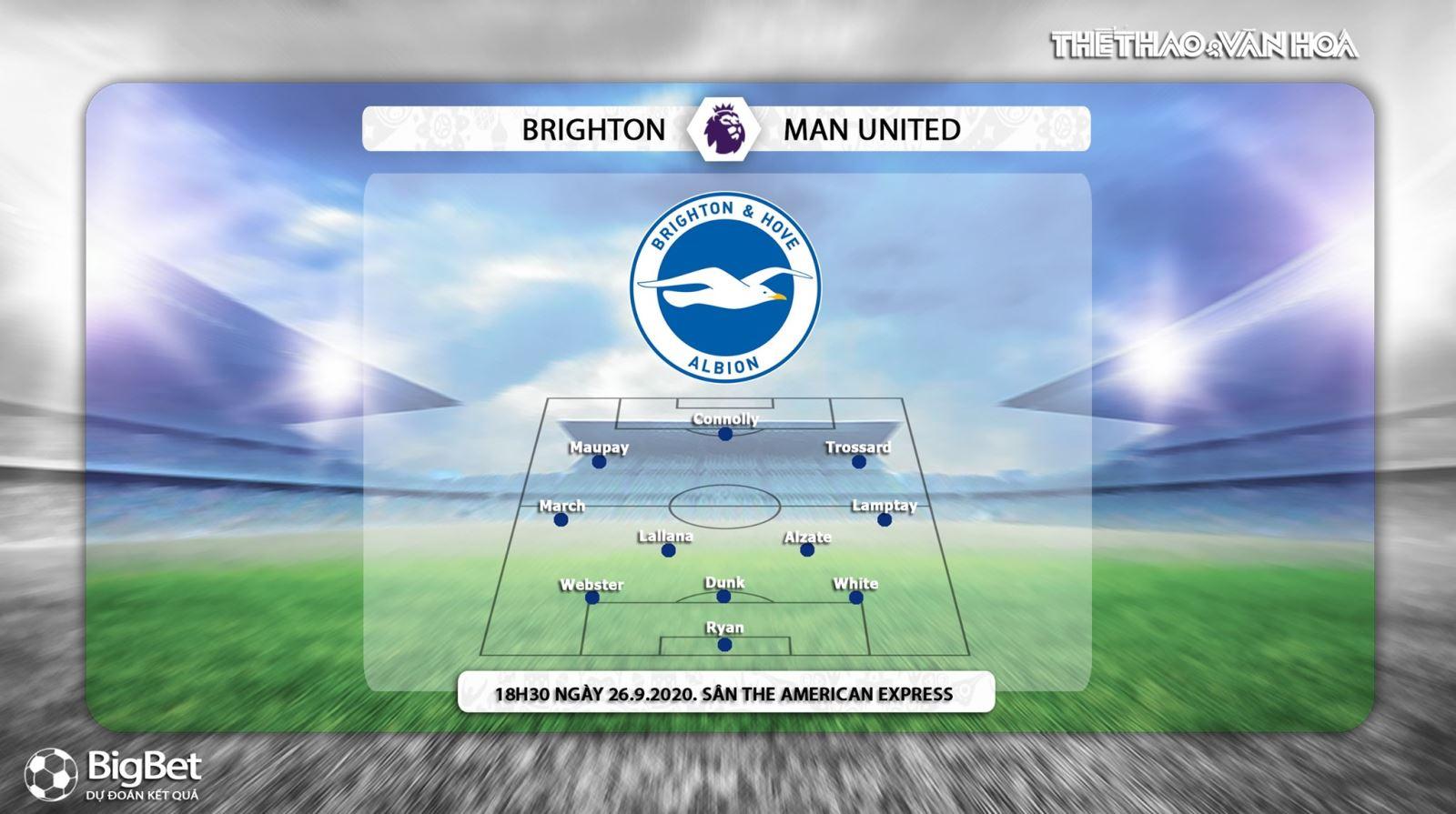 Keo nha cai, Kèo nhà cái, Brighton vs MU, Trực tiếp bóng đá Vòng 3 Ngoại hạng Anh, K+PM, Trực tiếp Ngoại hạng Anh vòng 3, Soi kèo MU đấu với Brighton, Kèo MU, Kèo bóng đá