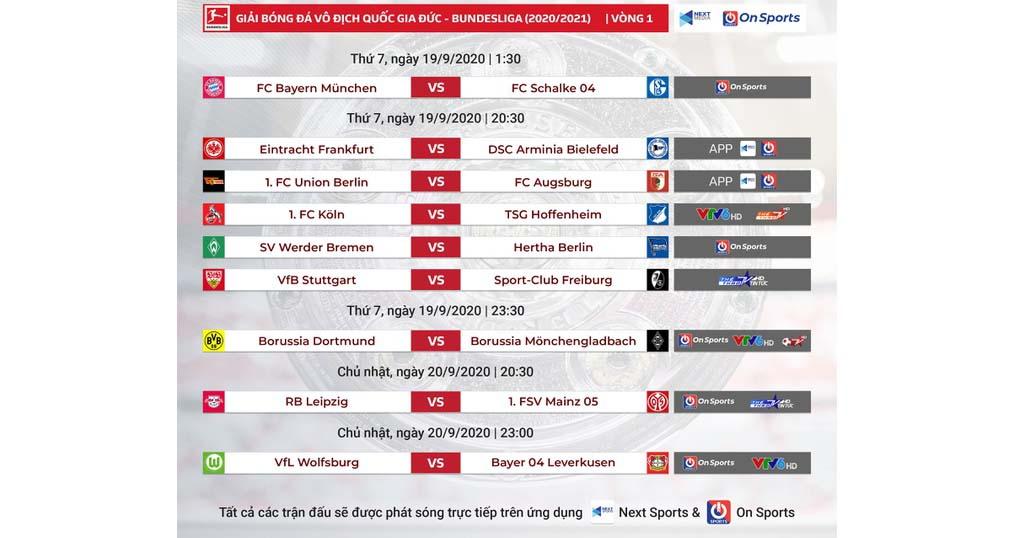 Lịch thi đấu, lịch thi đấu bóng đá Đức, VTV6, VTV6 trực tiếp bóng đá Đức, Trực tiếp Bundesliga vòng 1, Bayern Munich vs Schalke 04, lịch thi đấu Bundesliga vòng 1