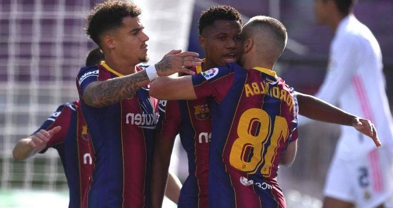 ket qua bong da, Barcelona 1-3 Real Madrid, kết quả Barcelona vs Real Madrid, kết quả bóng đá Tây Ban Nha, BXH Liga, Barca, Real, Messi, Fati, Ramos