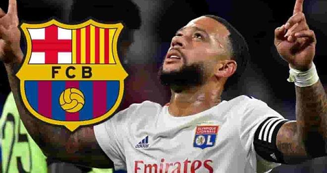 Barcelona, Barca, Memphis Depay, Depay, Ronald Koeman, bóng đá, bong da, Lyon