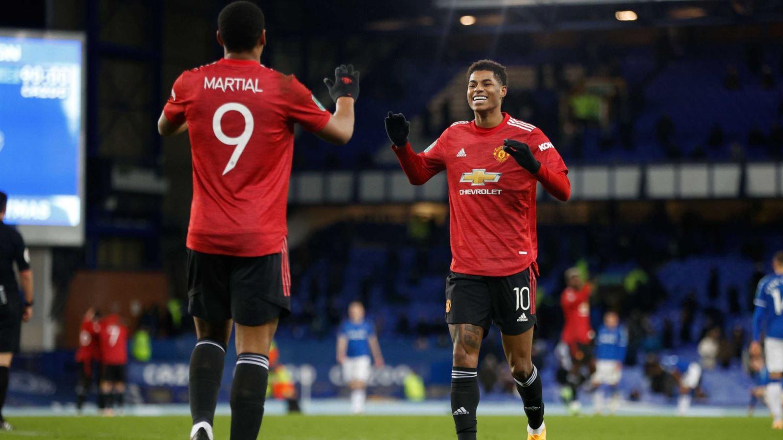 Everton 0-2 MU: Cavani và Martial ghi bàn, 'Quỷ đỏ' vào Bán kết Cúp Liên đoàn