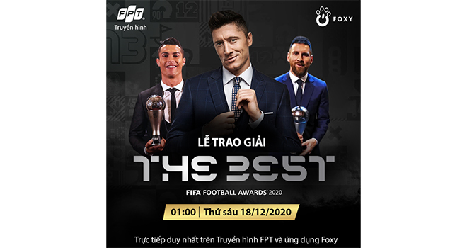 FIFA The Best, the best, Ronaldo, messi, lewandowski, lễ trao giải The Best, lễ trao giải FIFA The Best,