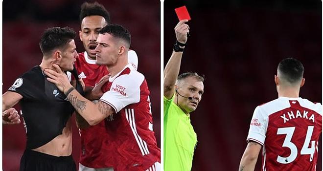 Xhaka, thẻ đỏ, Granit Xhaka, Ket qua bong da, Arsenal vs Burnley, Kết quả Ngoại hạng Anh, BXH Ngoại hạng Anh, Aubameyang