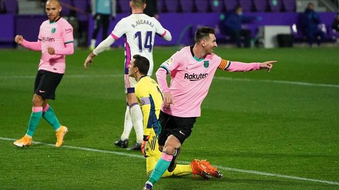 Real Valladolid 0-3 Barcelona: Messi phá kỷ lục tồn tại 46 năm của Pele