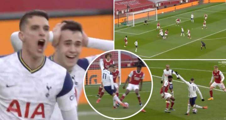 Rabona, Erik Lamela, Video Arsenal 2-1 Tottenham, Video clip bàn thắng trận Arsenal vs Tottenham, Kết quả Ngoại hạng Anh vòng 28: Arsenal vs Tottenham, Kết quả Tottenham đấu với Arsenal