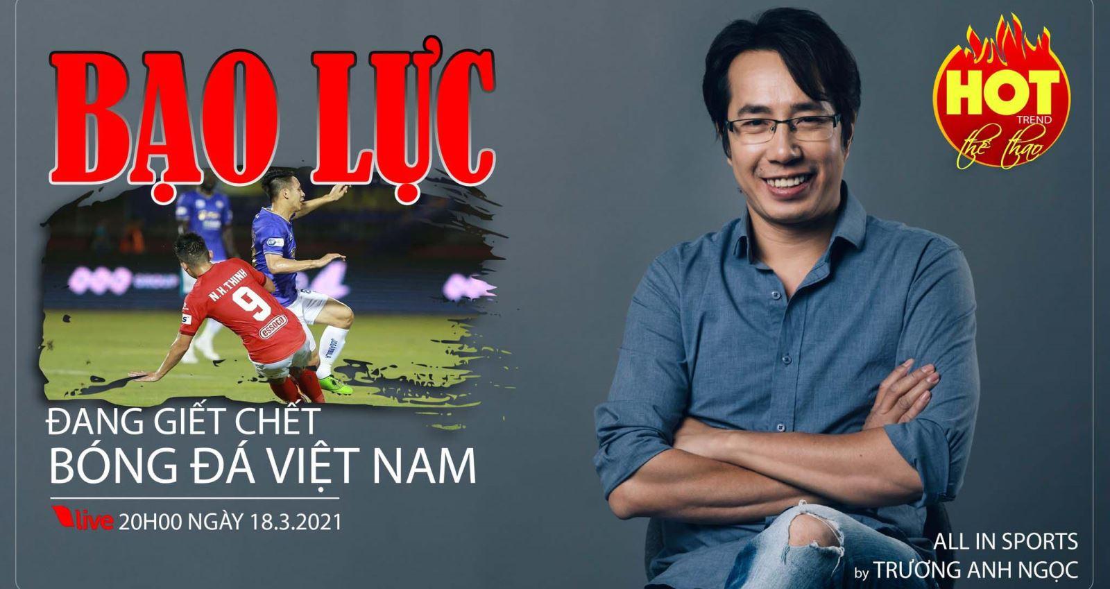 V-League, bóng đá Việt, Hùng Dũng, Ngô Hoàng Thịnh, BLV Anh Ngọc, V-League