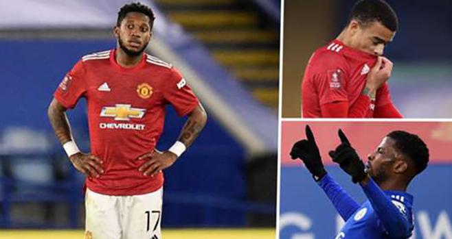 kết quả bóng đá, kết quả cúp FA, kết quả Leicester vs MU, Leicester 3-1 MU, tứ kết cúp FA, MU, kết quả bóng đá Anh, bong da hom nay, Cúp FA, Fred, Leicester