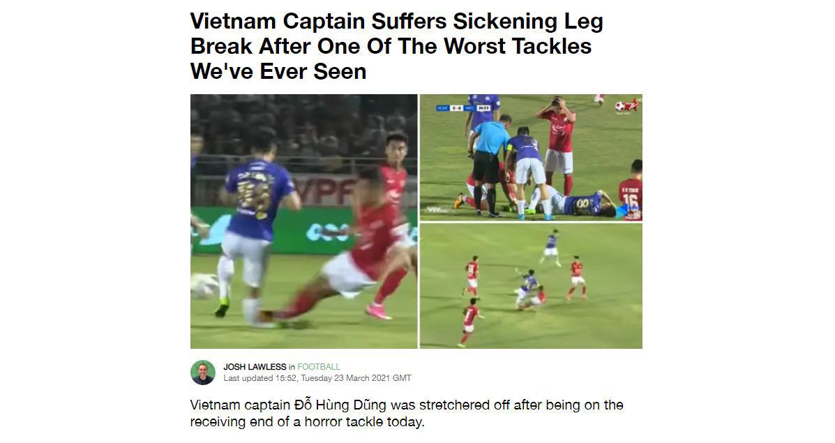 Hùng Dũng, Hùng Dũng chấn thương nặng, chấn thương của Hùng Dũng, TPHCM vs Hà Nội, Hoàng Thịnh, Đỗ Hùng Dũng, trực tiếp TPHCM vs Hà Nội, bóng đá Việt Nam