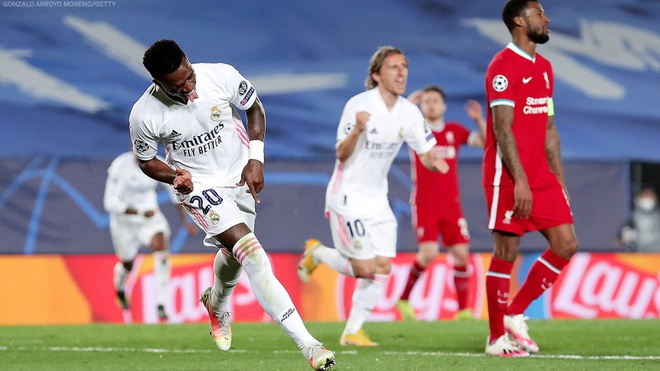 Real Madrid 3-1 Liverpool, Vinicius, Kết quả bóng đá, Kết quả tứ kết Cúp C1 châu Âu, tứ kết Cúp C1 châu Âu, kết quả Real Madrid vs Liverpool, Cúp C1, Alexander-Arnold
