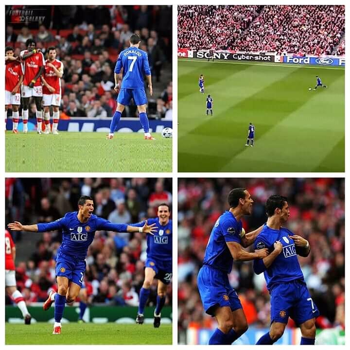 Ronaldo, Cristiano Ronaldo, Cúp C1, MU, Arsenal, siêu phẩm, đá phạt, manchester united