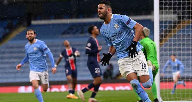 kết quả bóng đá, kết quả Cúp C1, Man City - PSG, kết quả Man City vs PSG, bán kết Cúp C1, Champions League, Mahrez, Guardiola, PSG, Man City, video Man City vs PSG