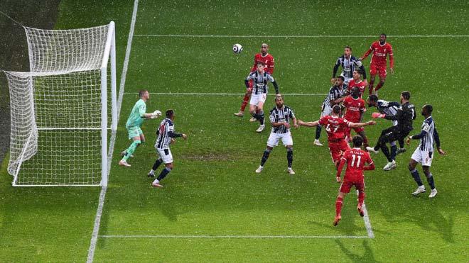Liverpool, West Brom 1-2 Liverpool, Alisson ghi bàn, thủ môn Liverpool ghi bàn, kết quả bóng đá Anh, bảng xếp hạng Ngoại hạng Anh, cuộc đua top 4 ngoại hạng Anh