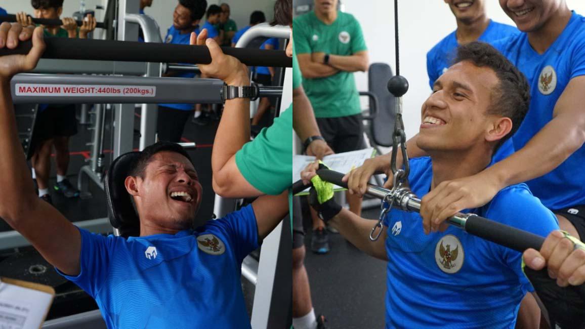 Cầu thủ Indonesia đẩy tạ 90kg, quyết 'phục thù' tuyển Việt Nam