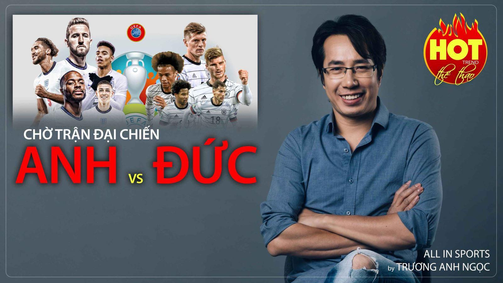 Vòng 1/8 EURO 2020: Đại chiến Anh vs Đức hé lộ ngôi vô địch