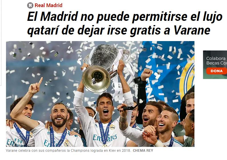 Real Madrid, La Liga, bóng đá Tây Ban Nha, Varane, Raphael Varane, Varane gia nhập MU, MU, manchester united