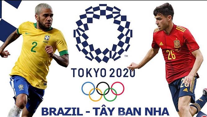 Xem trực tiếp bóng đá Olympic hôm nay: U23 Brazil vs Tây Ban Nha (VTV6)