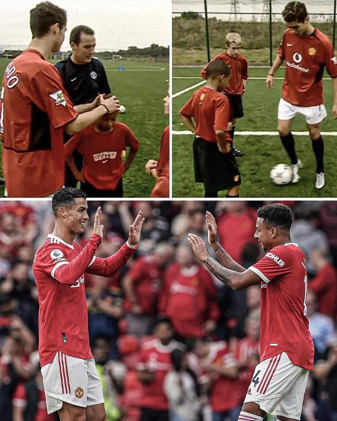 MU, Ronaldo, Lingard, Man Utd, Ronaldo ra mắt MU, Ronaldo lập cú đúp, cộng đồng mạng, Messi, Ronaldo vs Messi, kết quả Ngoại hạng Anh, kết quả bóng đá Anh, M.U, CR7