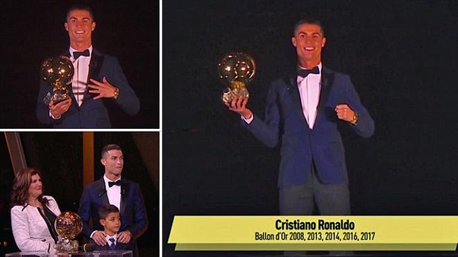 Cristiano Ronaldo đương nhiên xứng đáng giành Quả bóng Vàng 2017