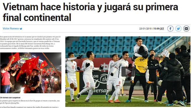 Báo TBN Marca: 'Bóng đá Việt Nam đã phát triển lên trình độ đáng kinh ngạc'